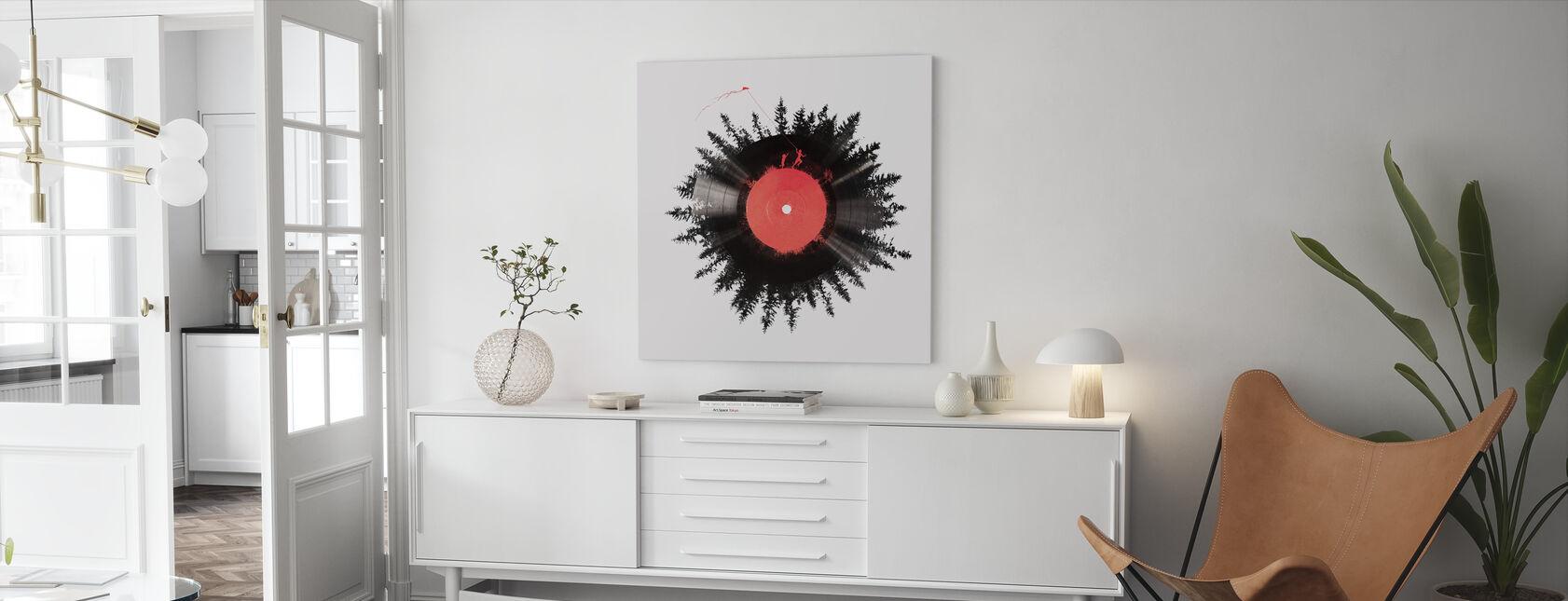 Vinyl av mitt liv - Lerretsbilde - Stue