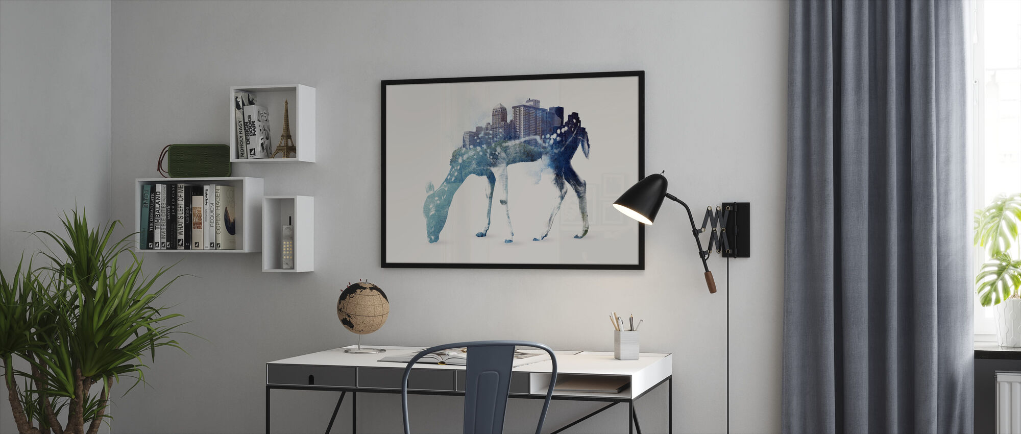 City Deer - Framed print - Office