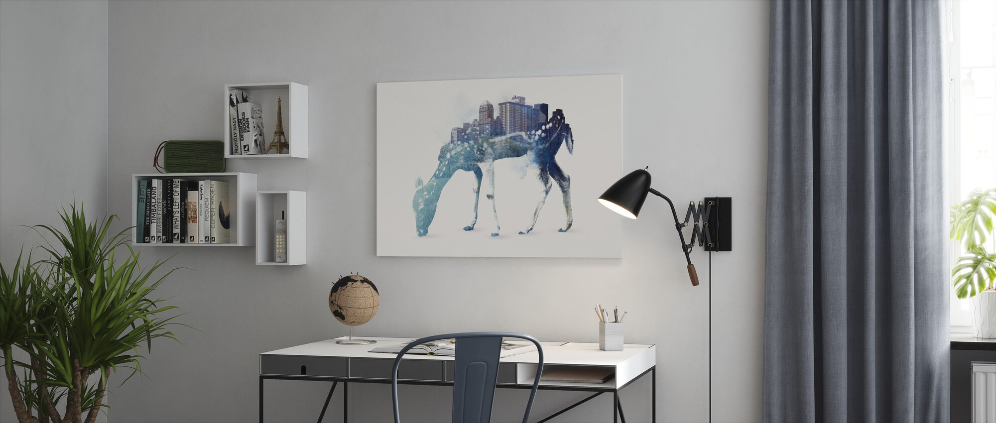 City Deer - Canvas print - Office