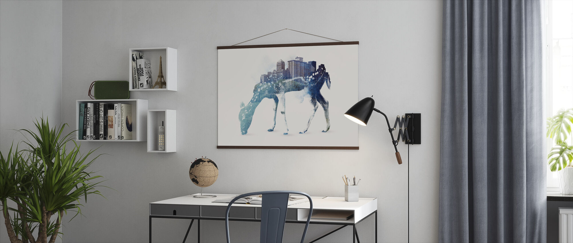 City Deer - Poster - Office