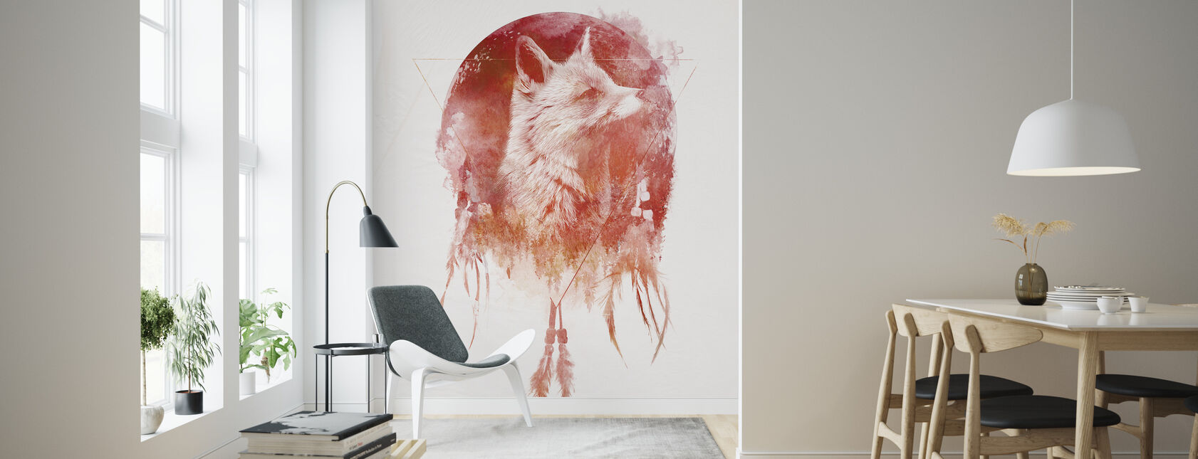 Dreamcatcher Wolf - Wallpaper - Living Room