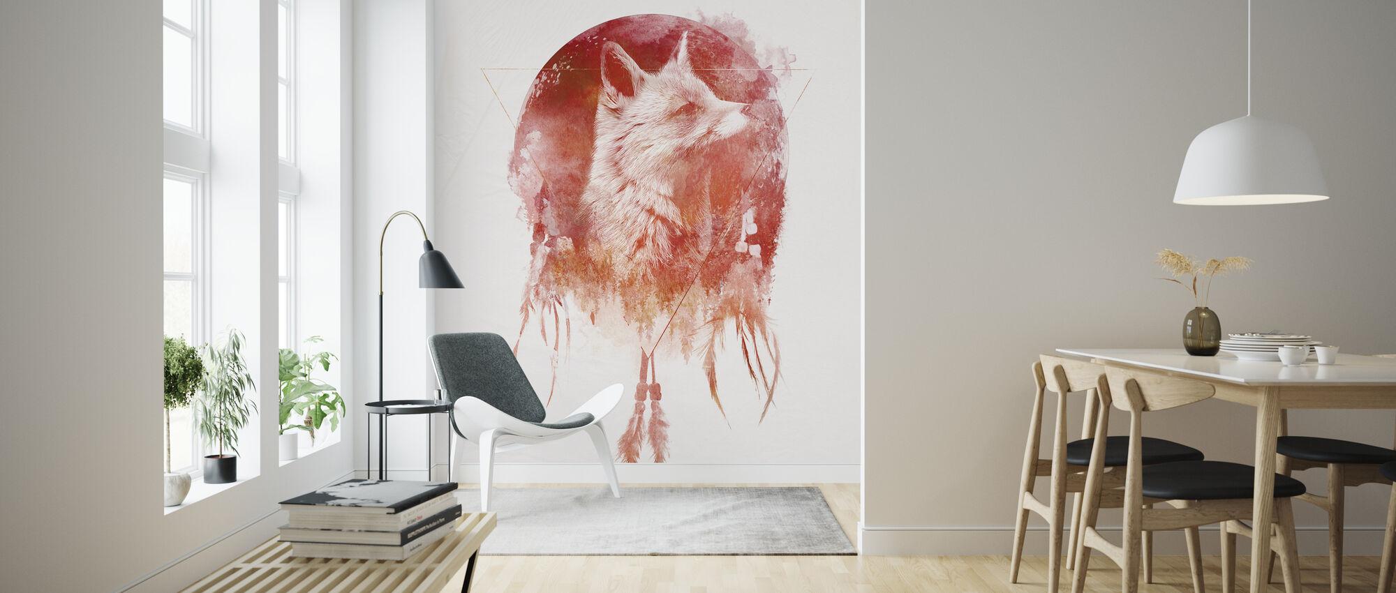 Dreamcatcher Wolf - Wallpaper - Living Room