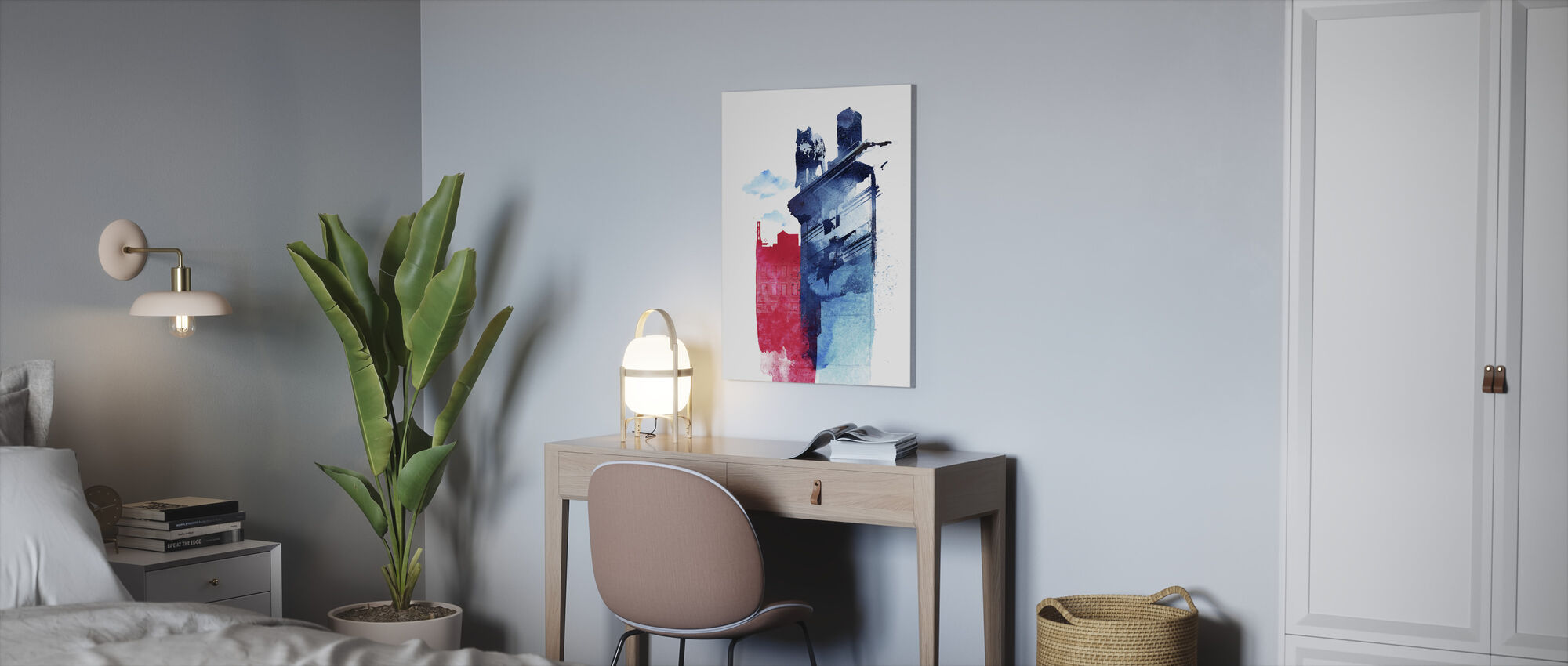 This Is My Town - Canvas print - Office