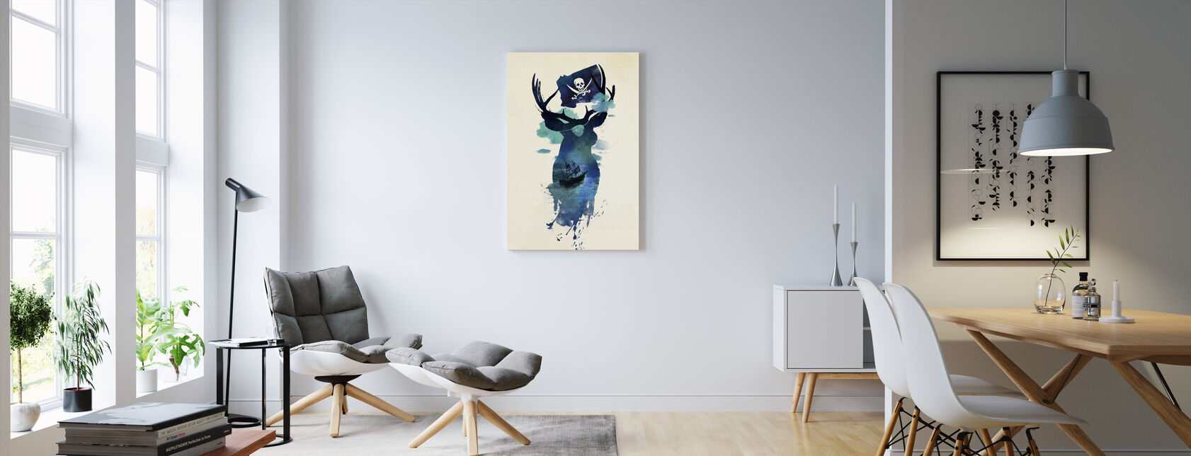 Captain Hook - Canvas print - Living Room