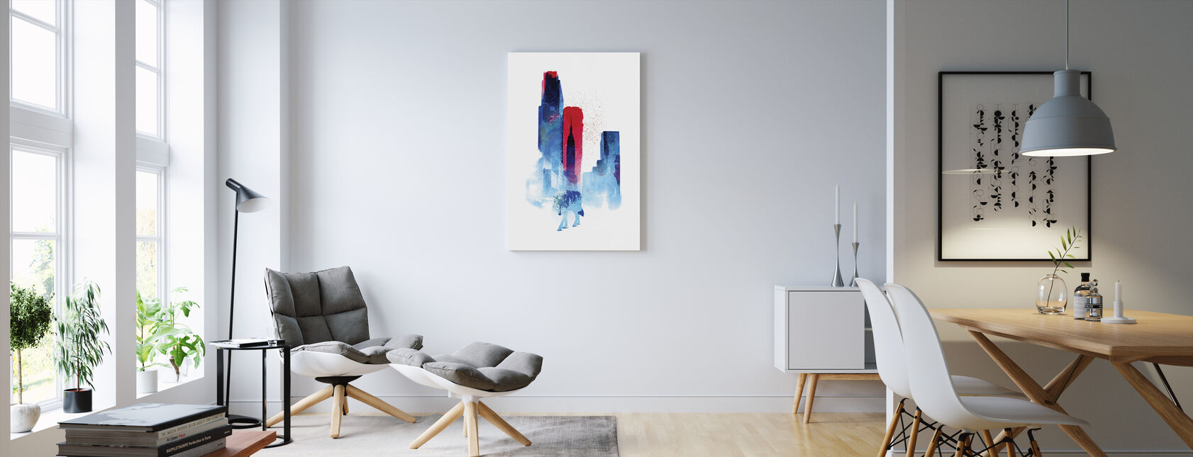 Wolf Of The City - Canvas print - Living Room