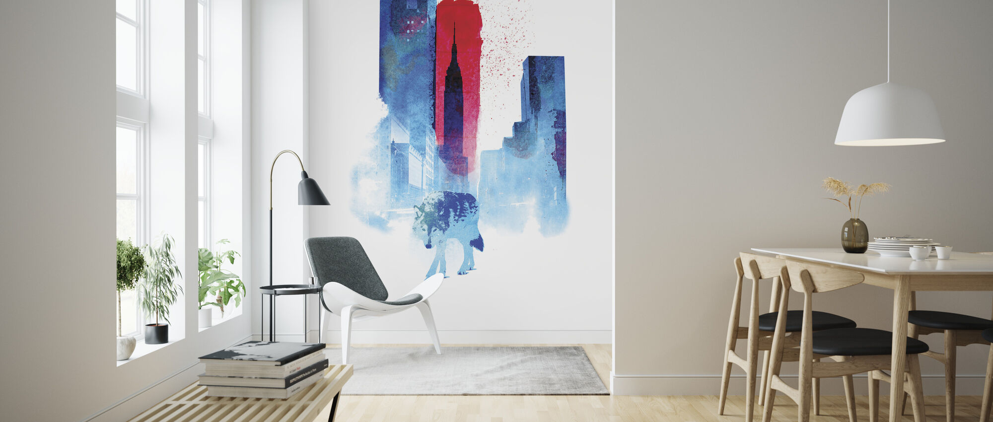 Wolf Of The City - Wallpaper - Living Room