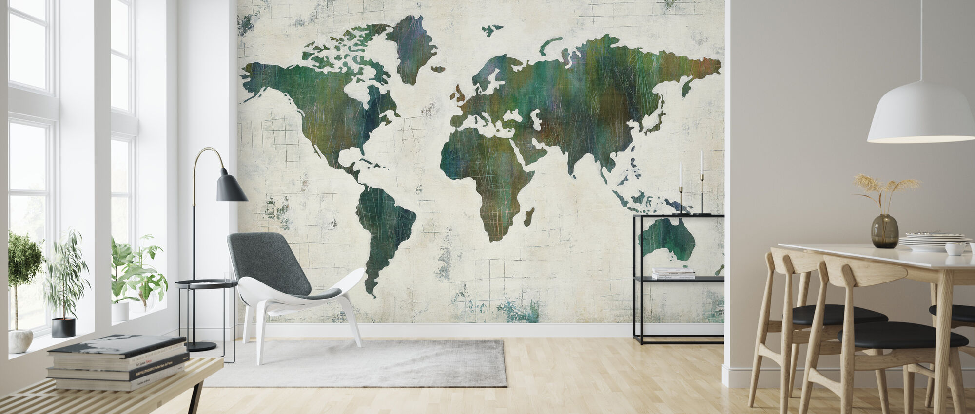 Discover the World - Wallpaper - Living Room