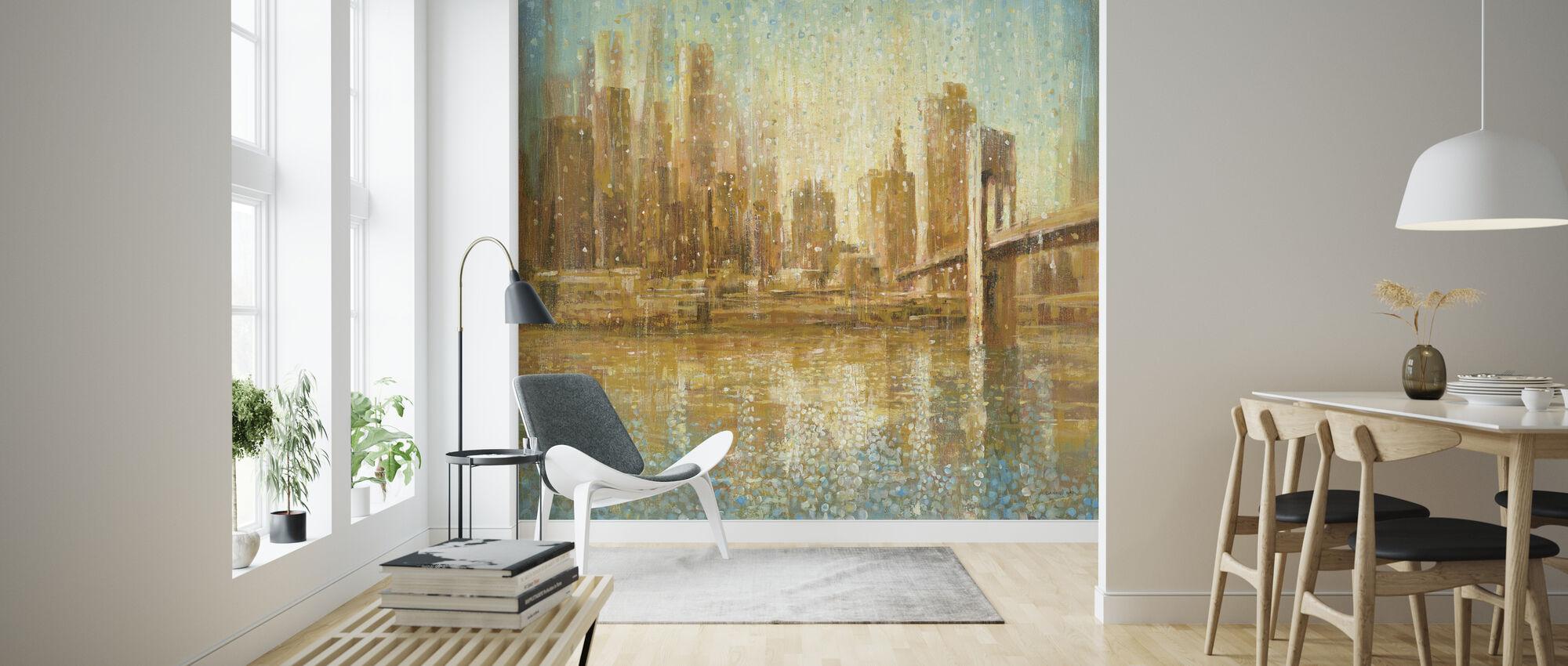 Champagne City - Wallpaper - Living Room