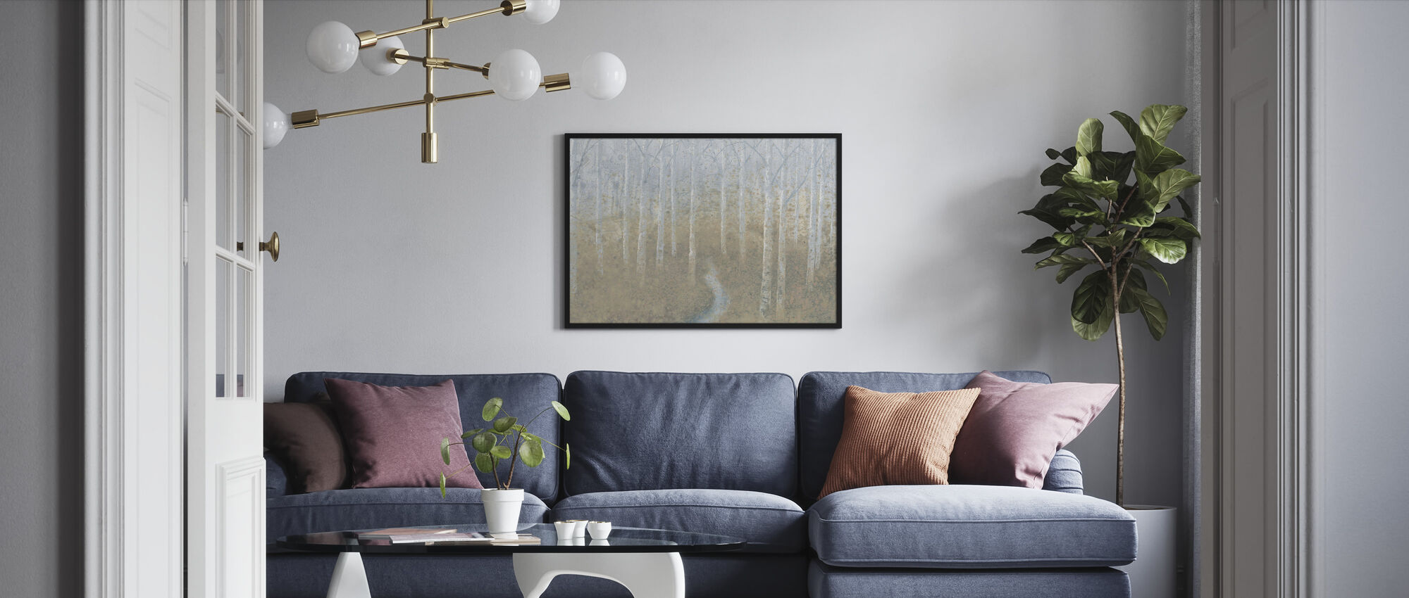 Sølvfarvann - Innrammet bilde - Stue