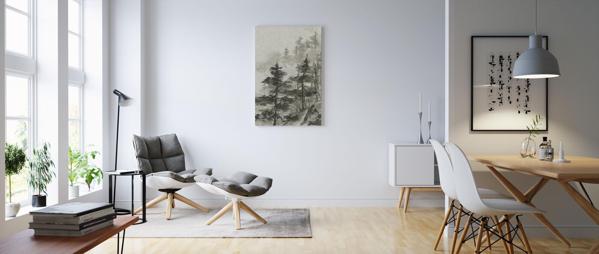 Sumi trädtopparna - Canvastavla - Vardagsrum