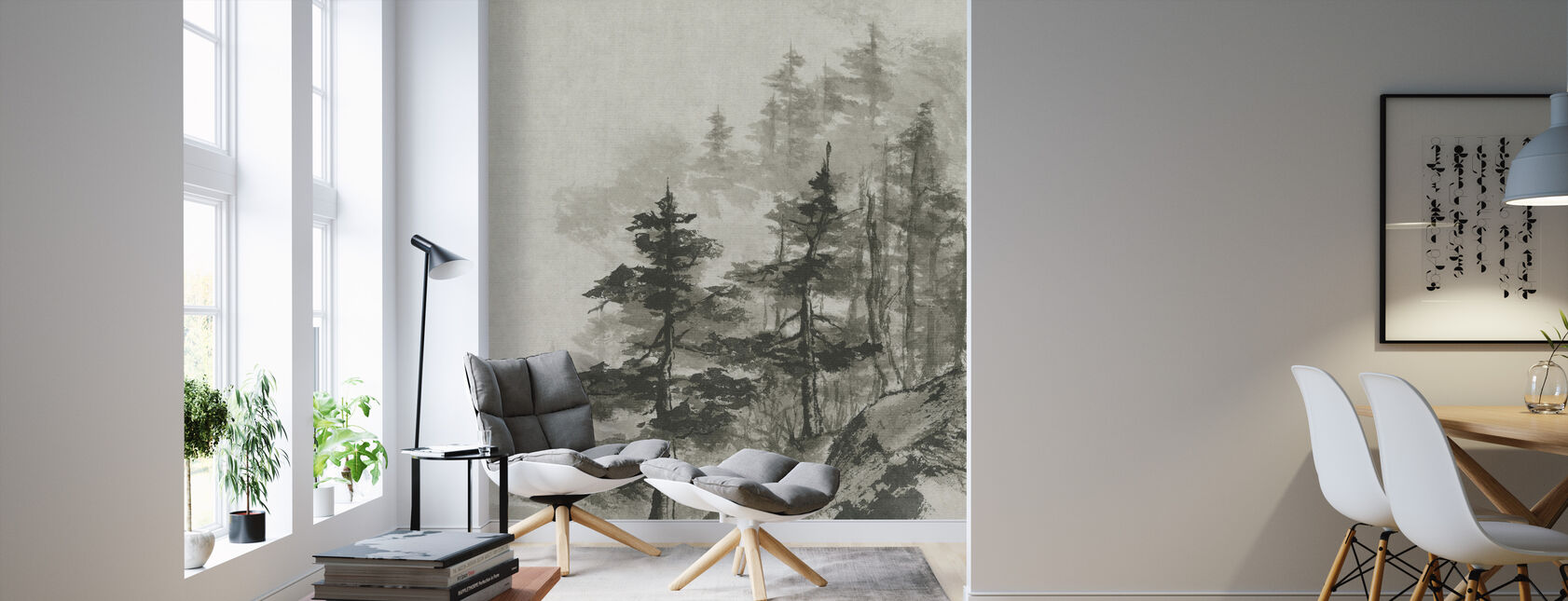 Sumi Treetops - Wallpaper - Living Room