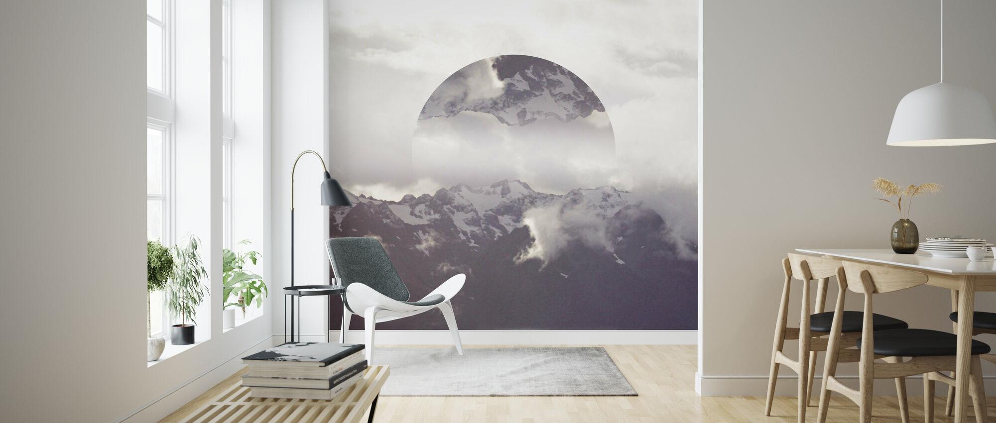 Reflektert landskap 2 - Tapet - Stue