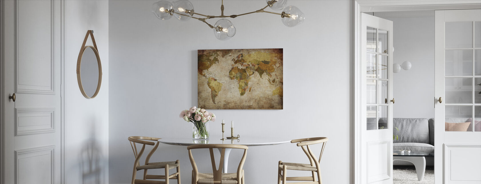 Old Vintage World Map - Canvas print - Kitchen