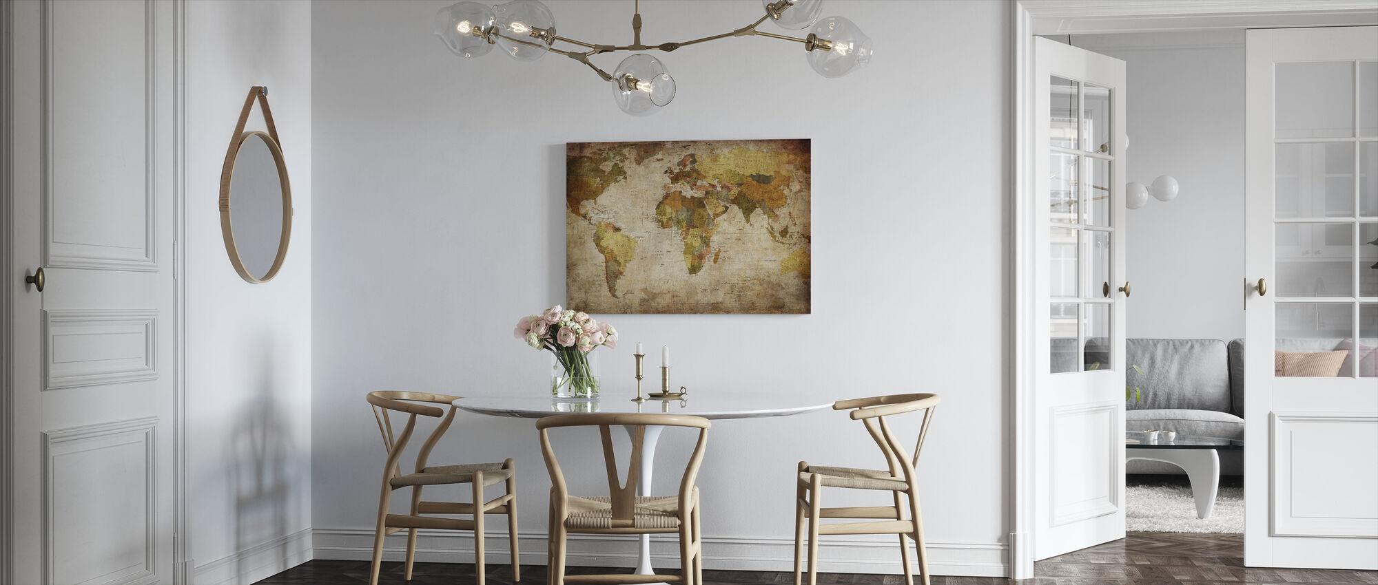 Old Vintage World Map - Canvas print - Kitchen