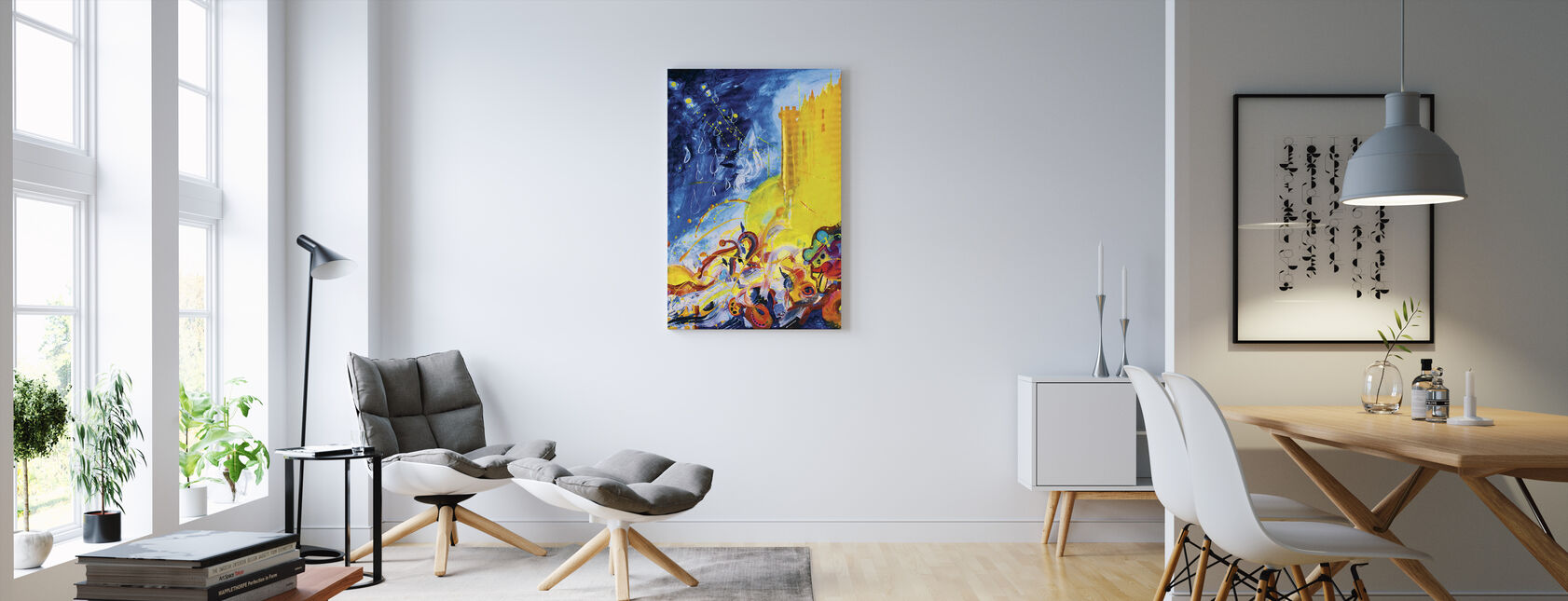 Hello. Hello - Canvas print - Living Room