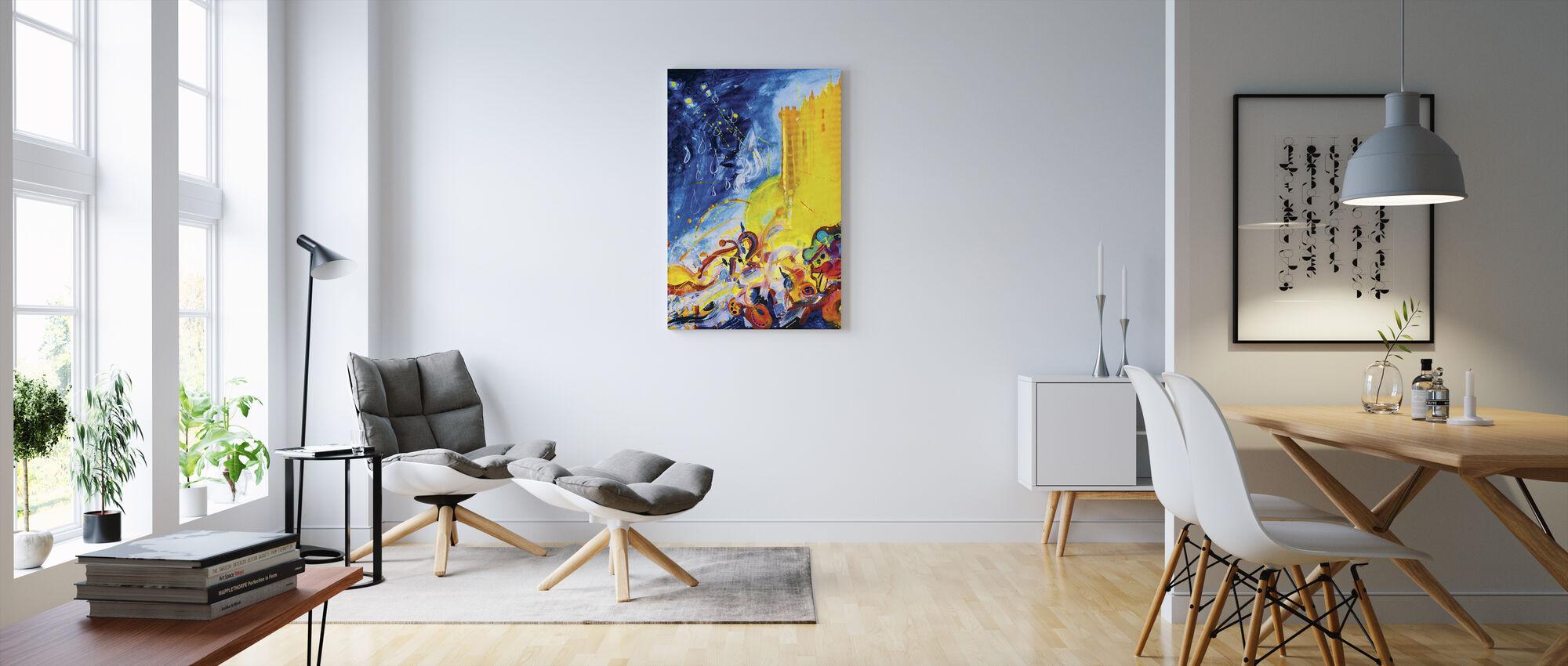 Hello. Hello - Canvas print - Living Room