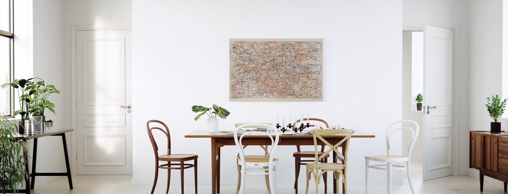 London Map - Canvas print - Kitchen