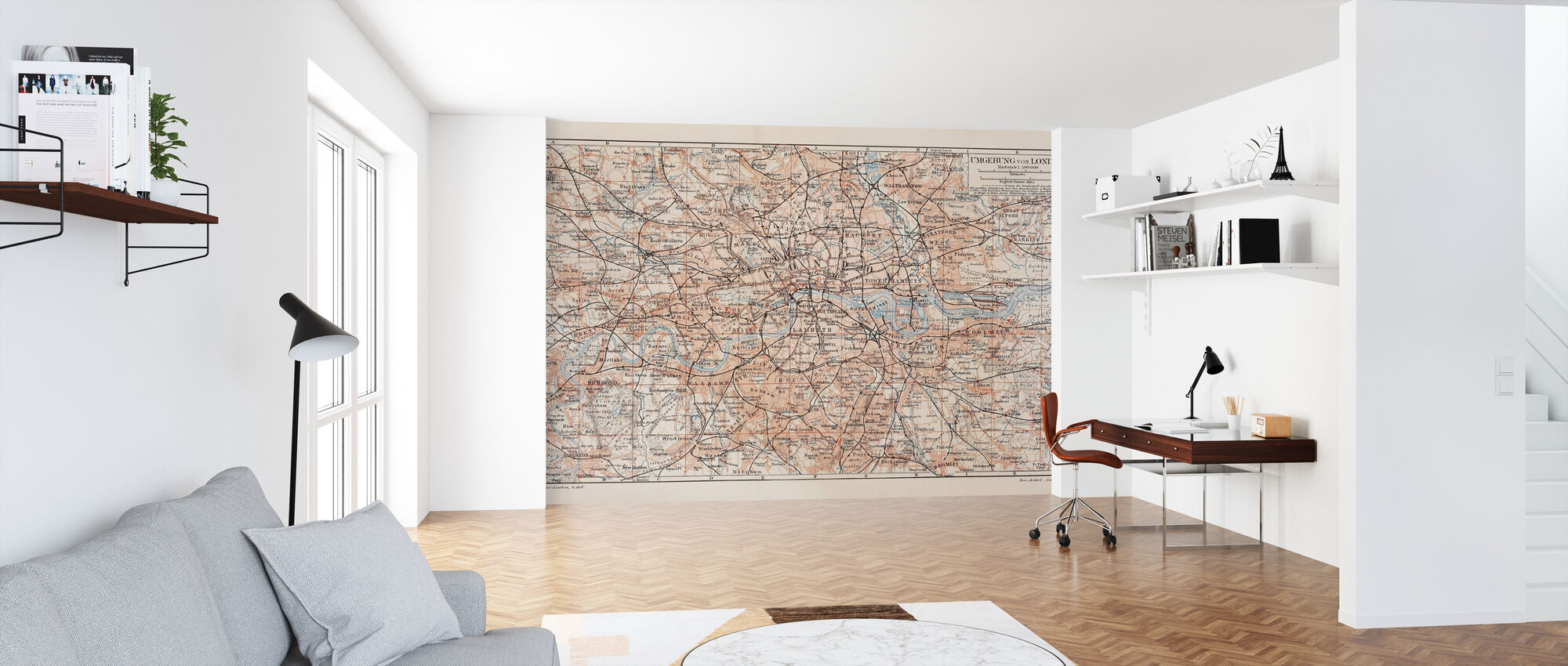 London Map - Wallpaper - Office