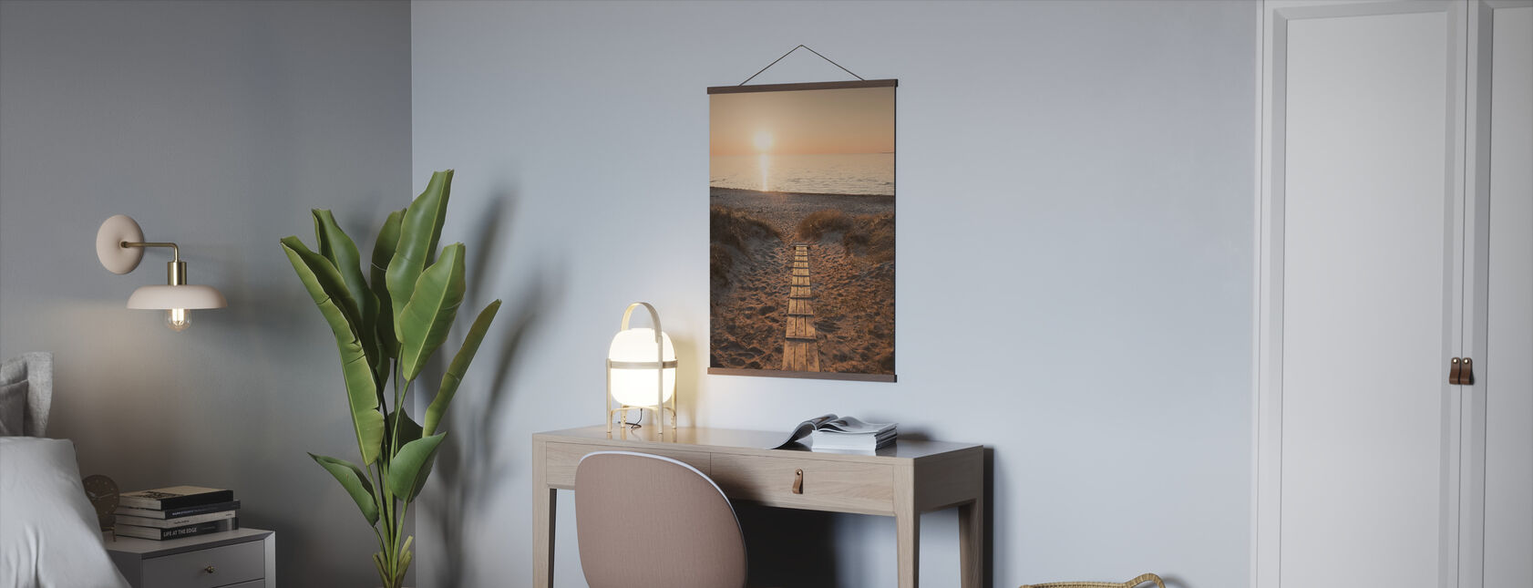 Sunset over Vejbystrand, Sweden - Poster - Office