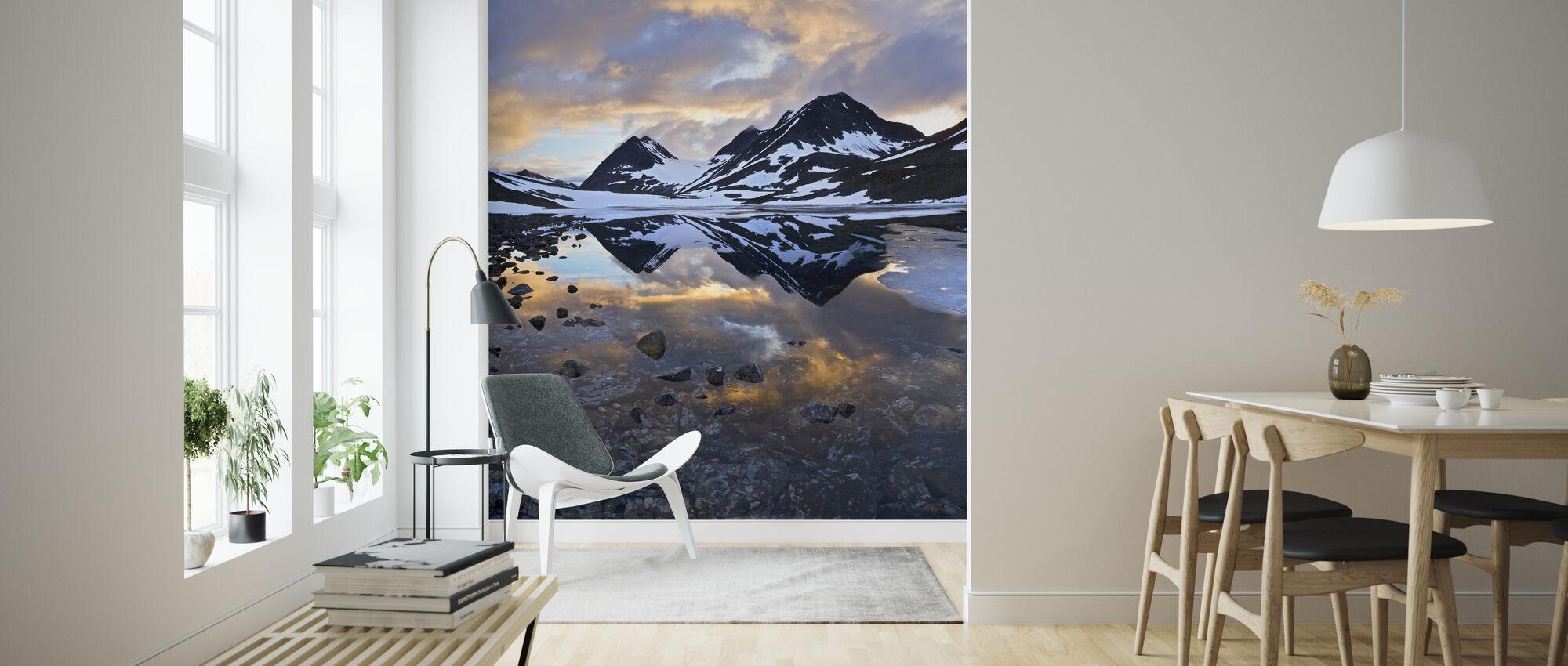 Nallojaure Landscape, Sweden - Wallpaper - Living Room