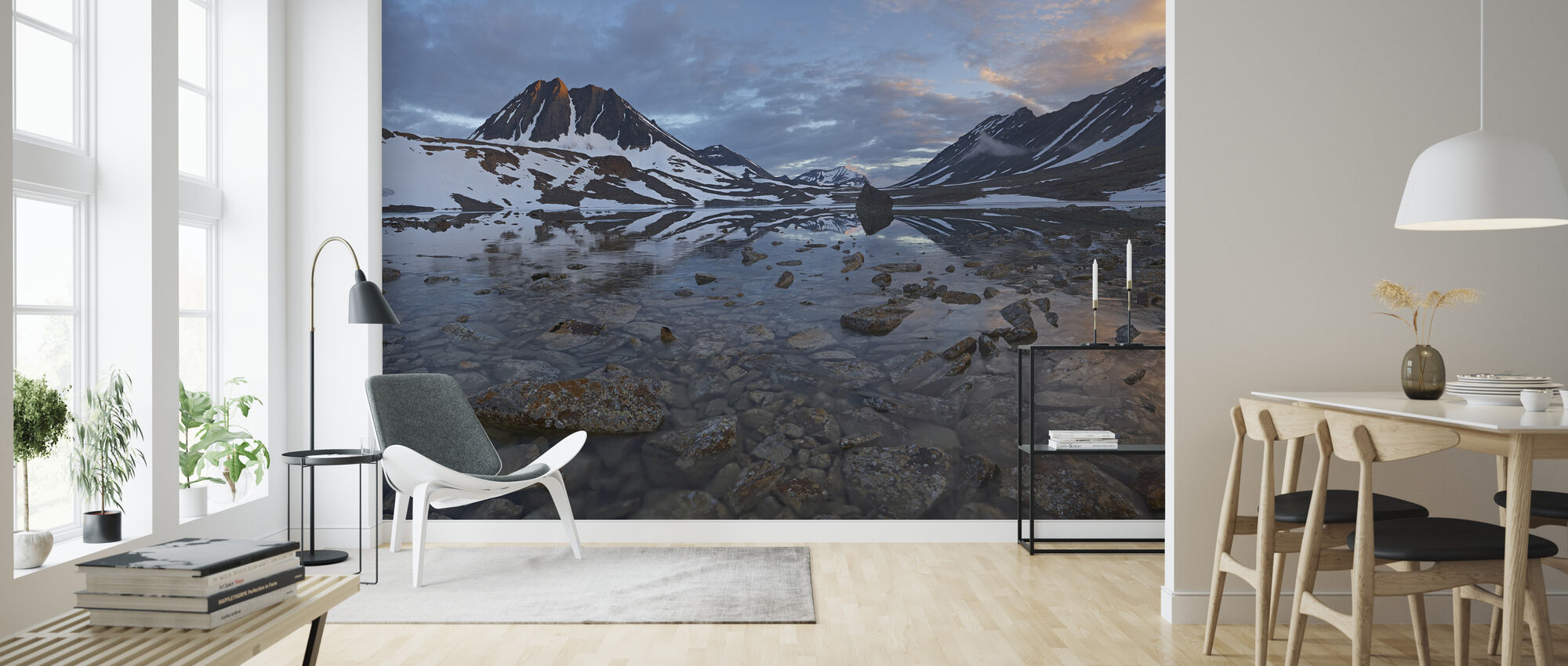 Morning in Lapland Mountains, Sweden - Wallpaper - Living Room