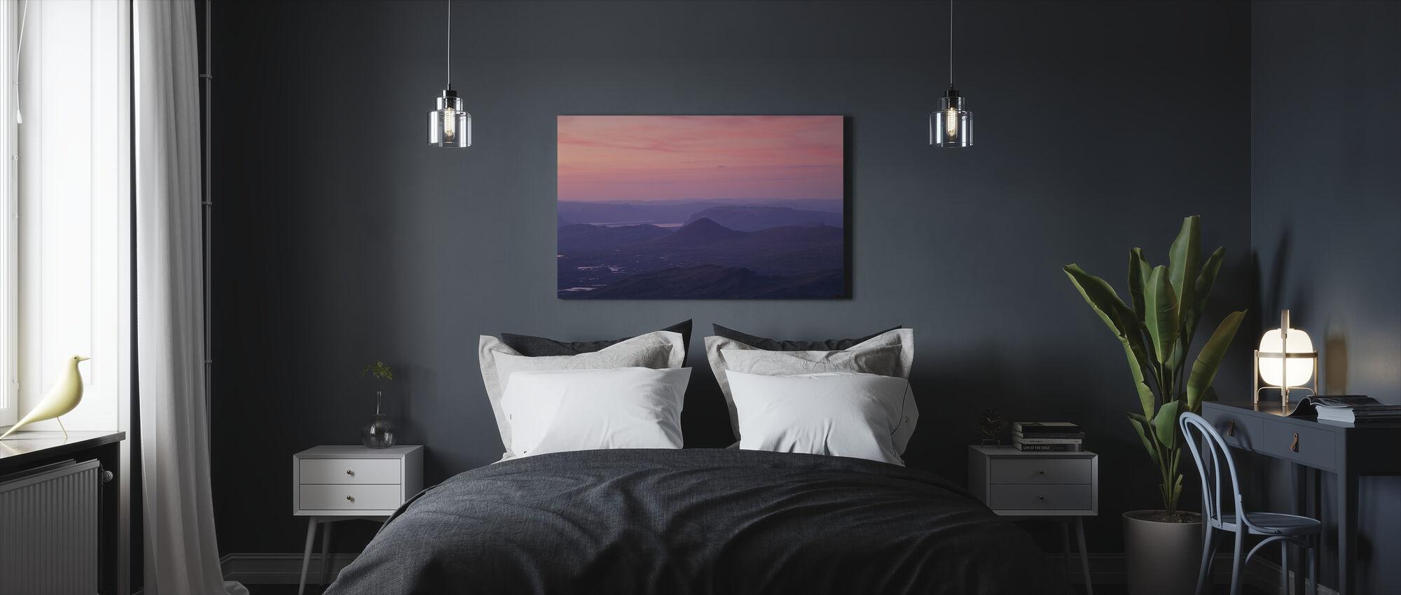 Månen over Sarek National Park, Sverige - Billede på lærred - Soveværelse