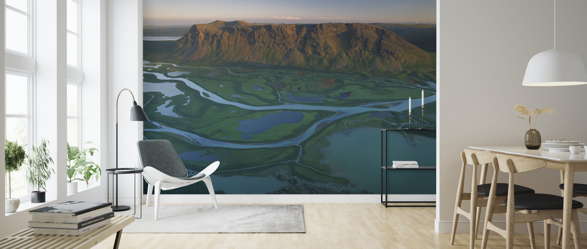 River Delta in Sarek National Park, Sweden - Wallpaper - Living Room