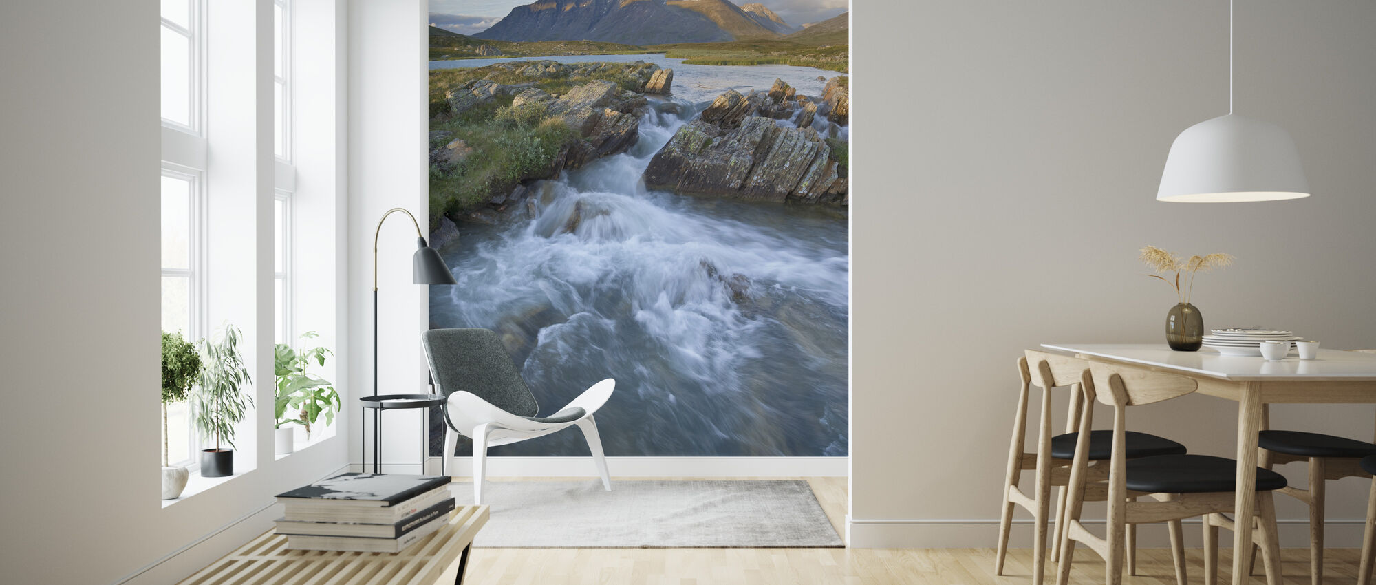 Stream in Sarek National Park, Zweden - Behang - Woonkamer