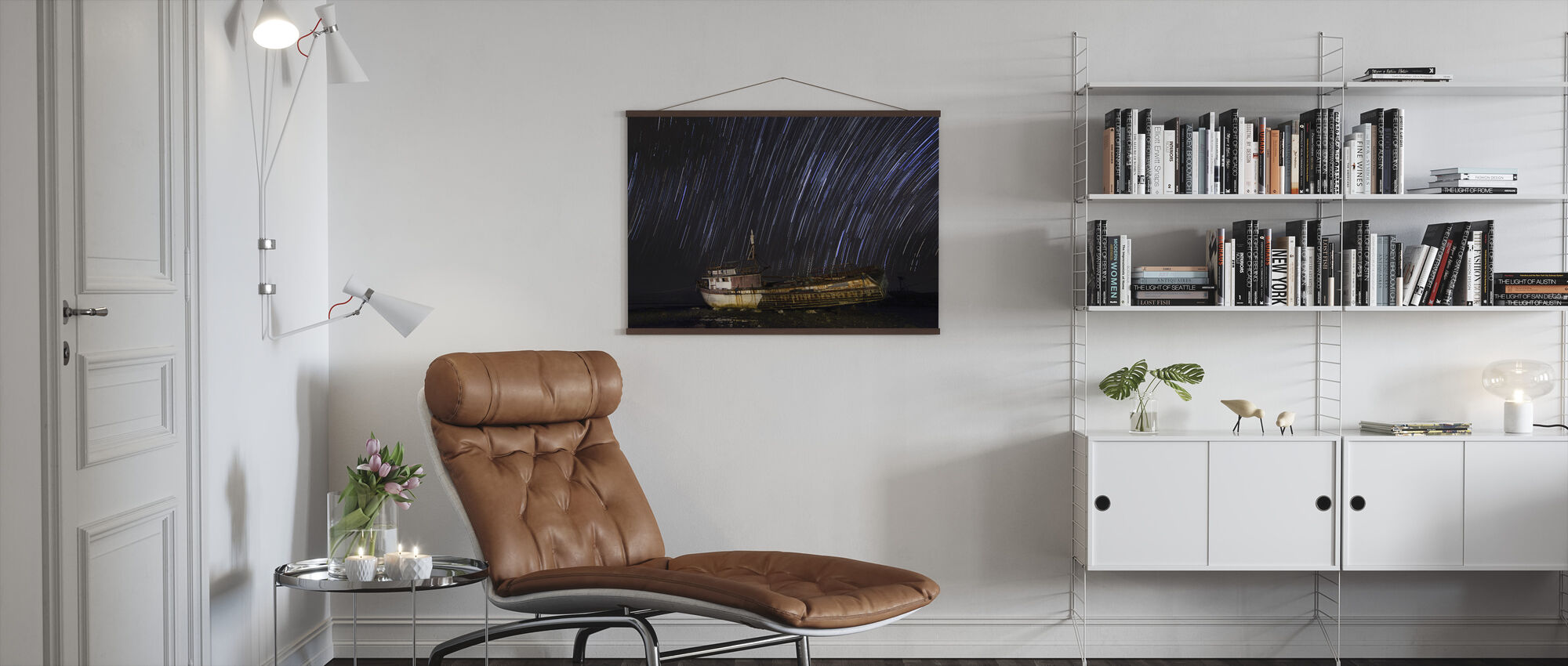 Santa Cruz Star Trail - Poster - Living Room