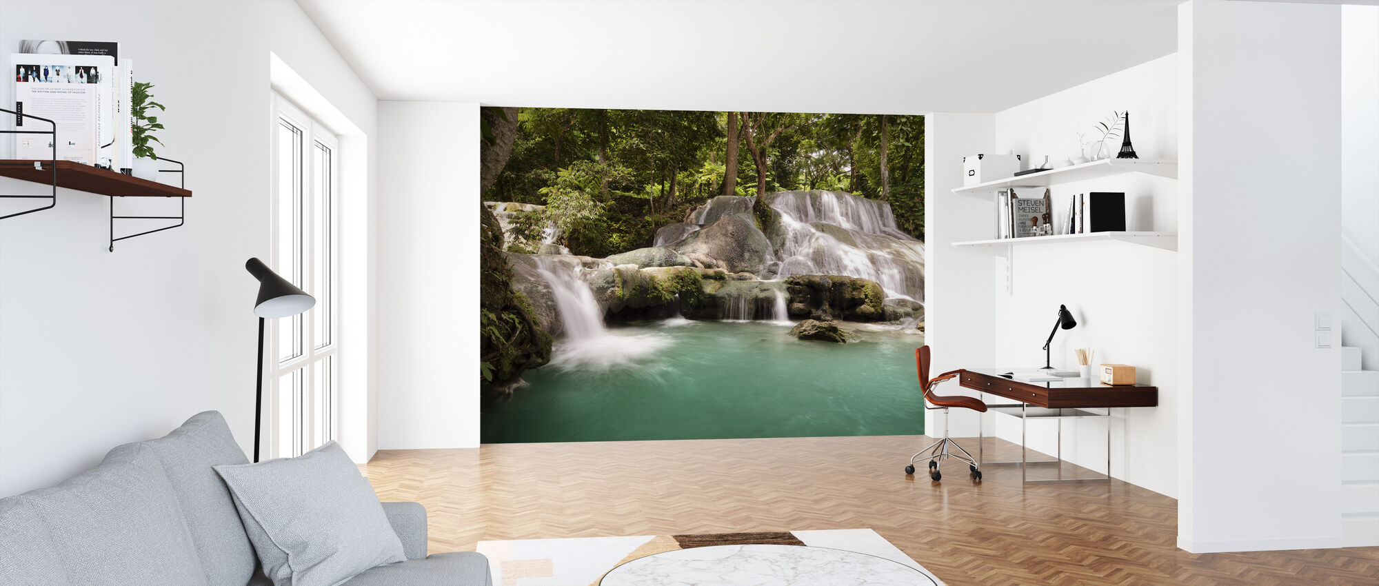 Panas Waterfalls III - Wallpaper - Office