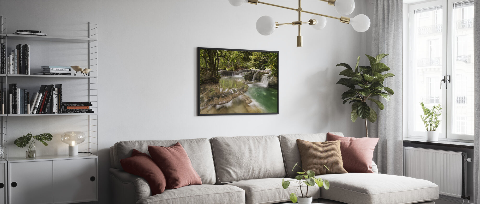 Panas Waterfalls II - Framed print - Living Room