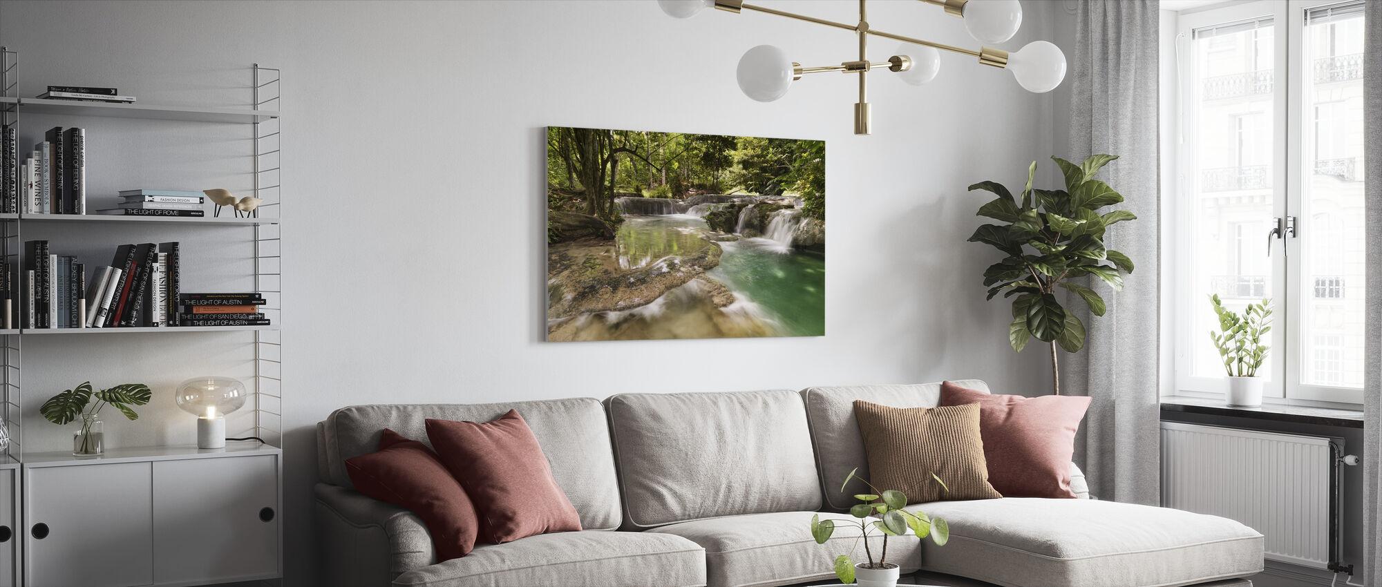 Panas Waterfalls II - Canvas print - Living Room