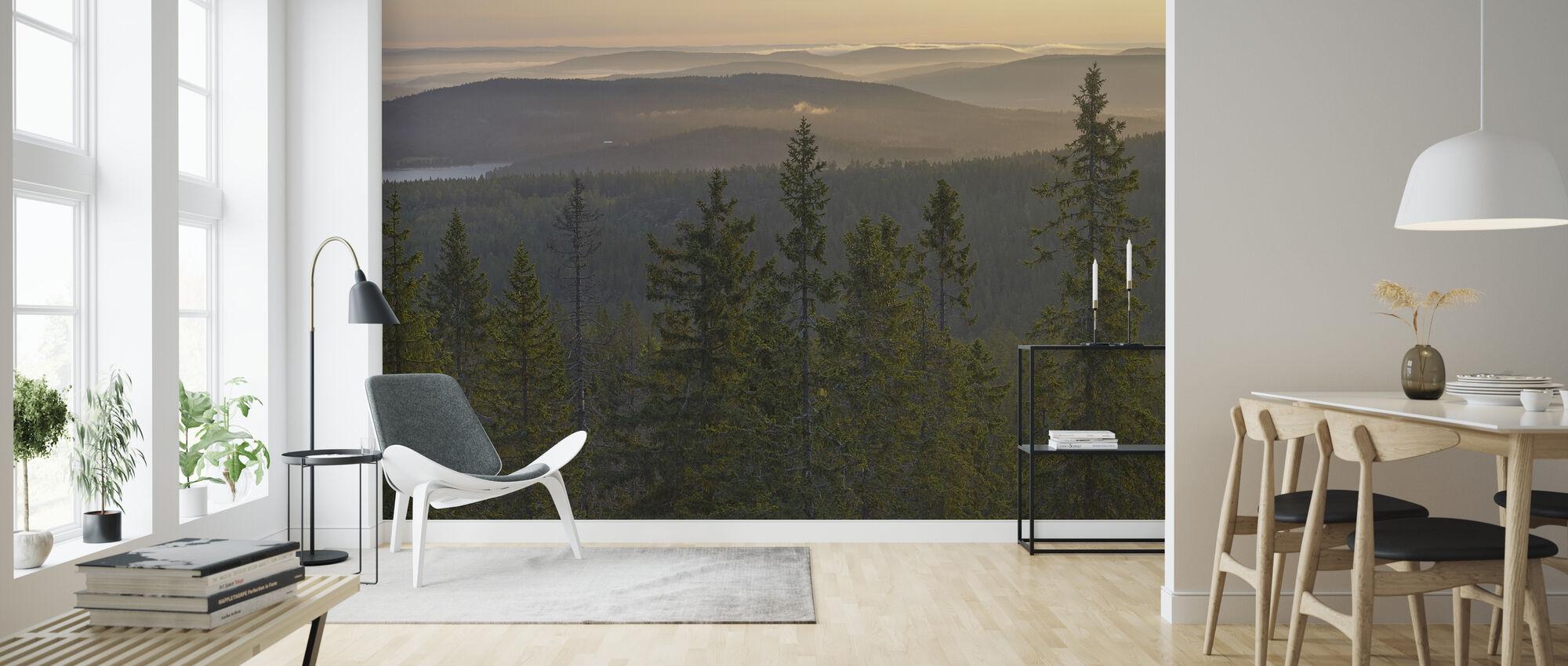 Skuleskogen National Park Spruces, Zweden - Behang - Woonkamer
