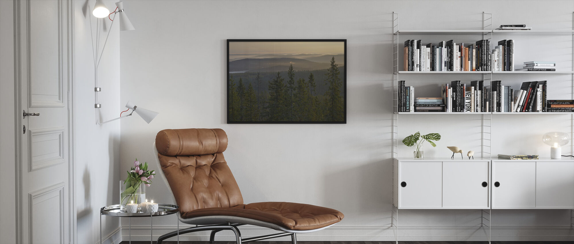 Skuleskogen National Park Spruces, Sweden - Framed print - Living Room