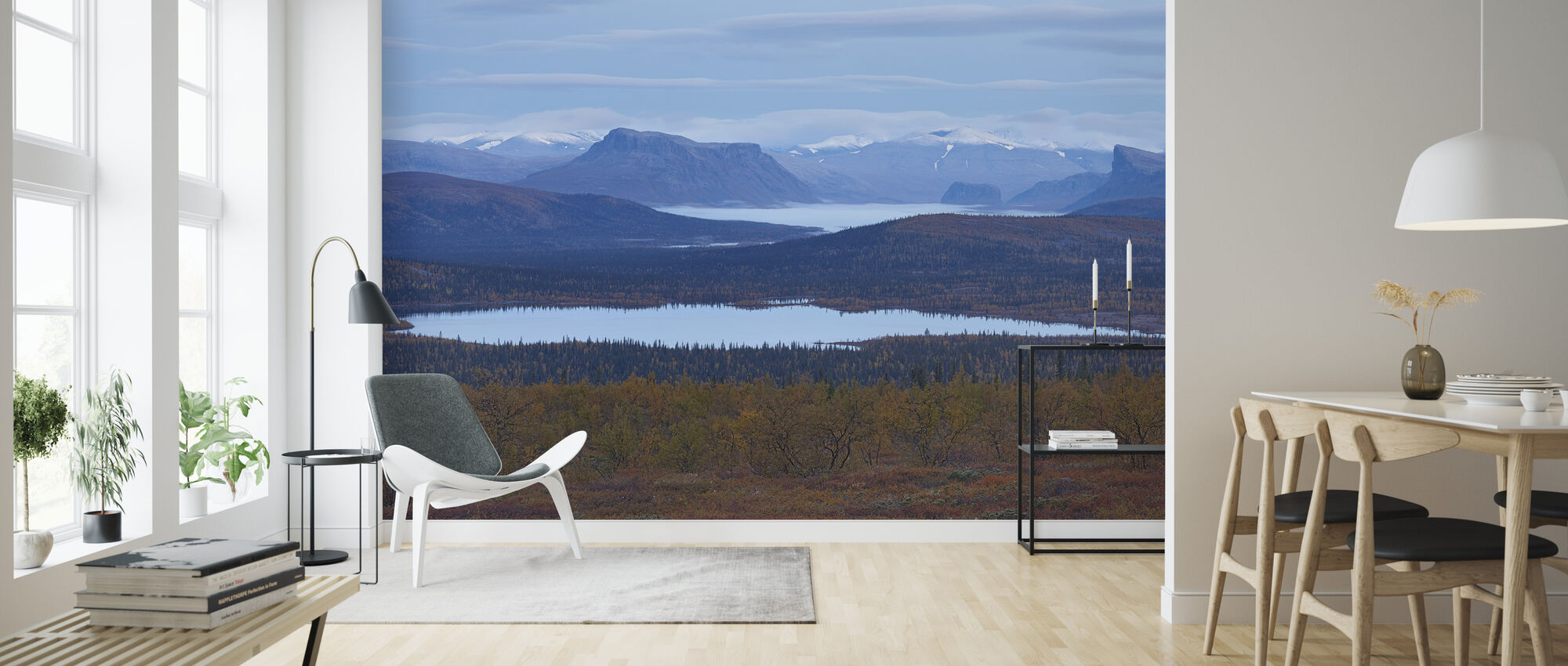 Scenic View of Sarek National Park, Zweden - Behang - Woonkamer