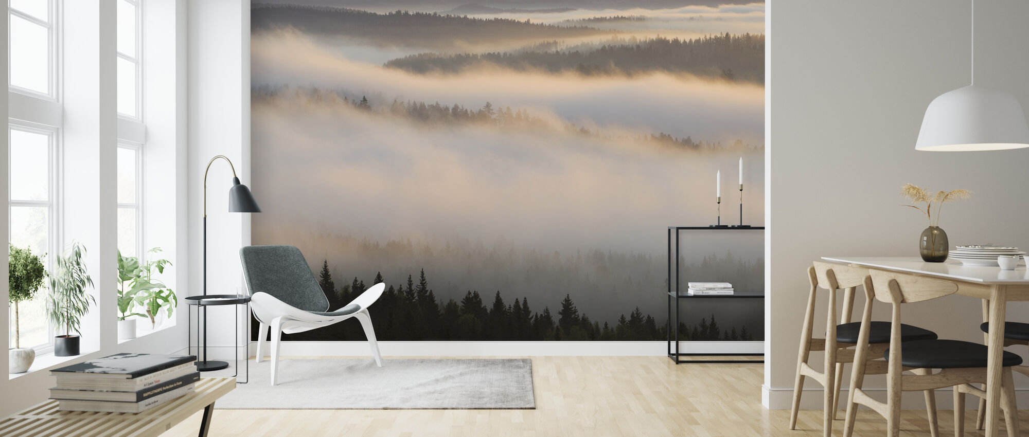 Fog in Bergslagen, Sweden - Wallpaper - Living Room