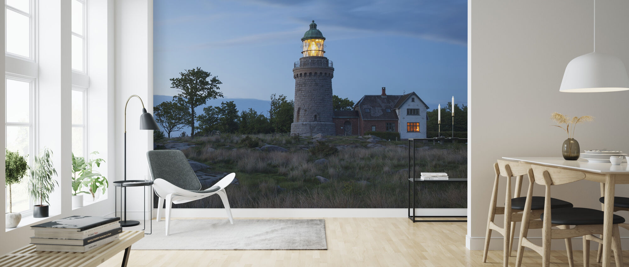 Lighthouse in Bornholm, Denmark - Wallpaper - Living Room
