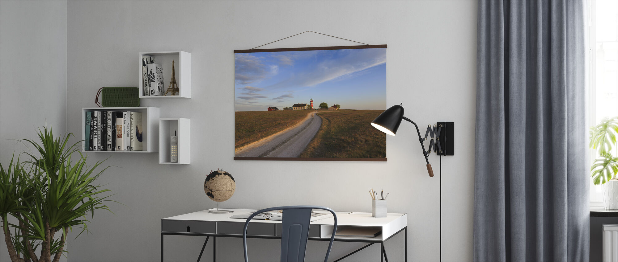 Countryroad to Lighthouse, Gotland - Poster - Office