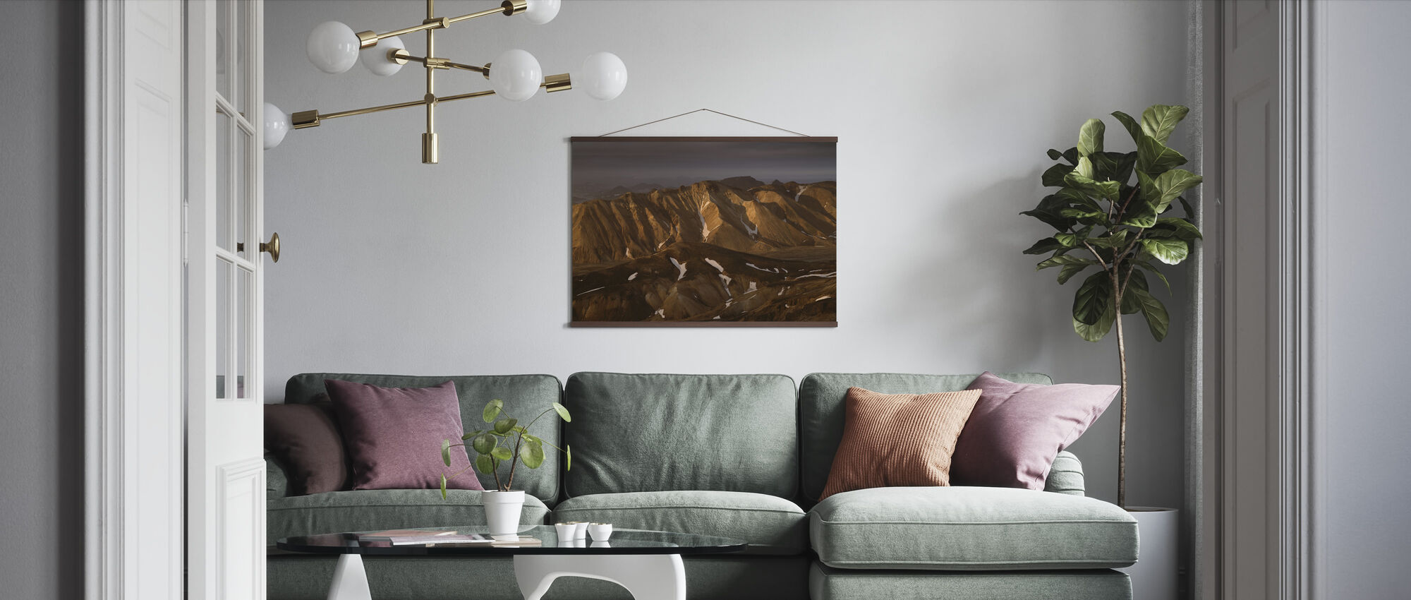 Sandy Mountains, Iceland - Poster - Living Room
