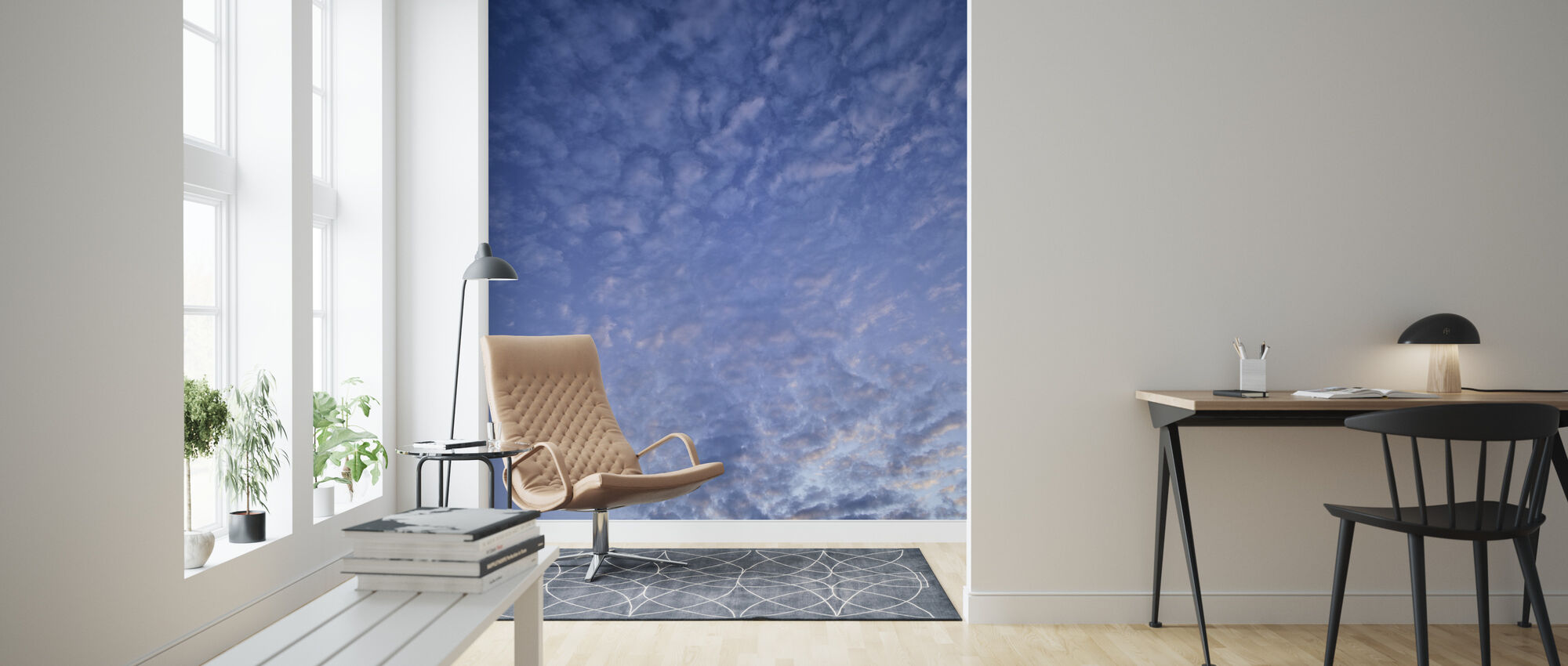 Blue Cloudscape - Wallpaper - Living Room