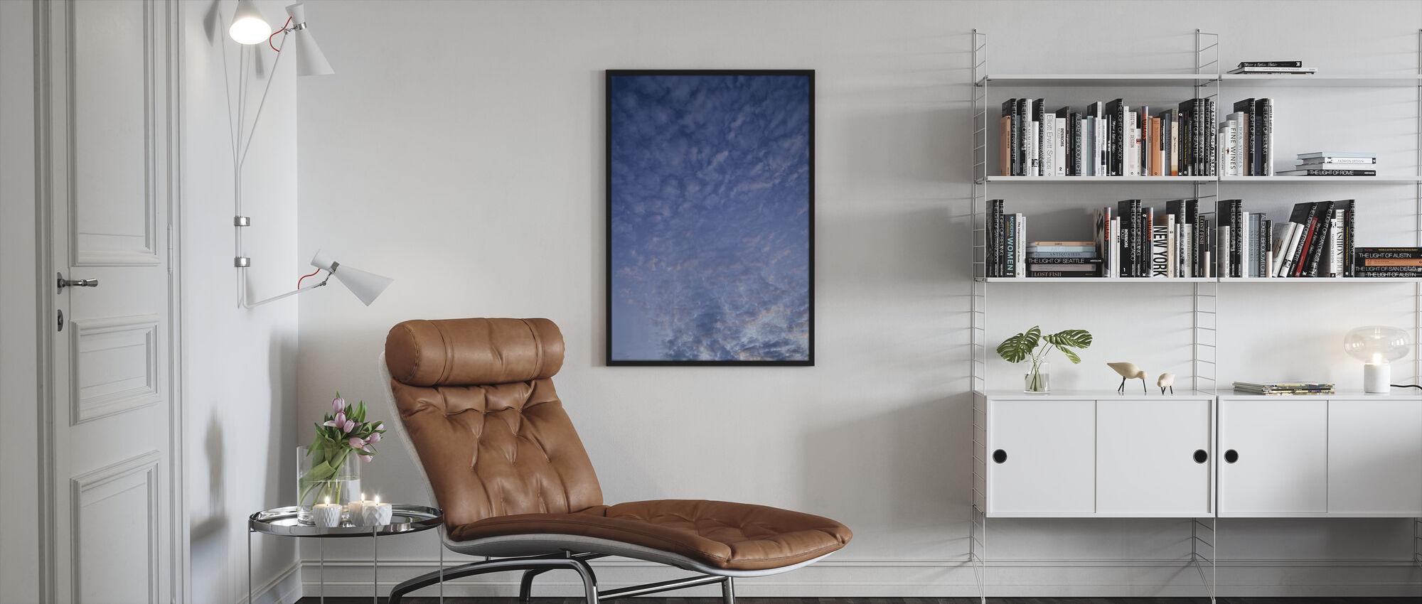 Blue Cloudscape - Framed print - Living Room