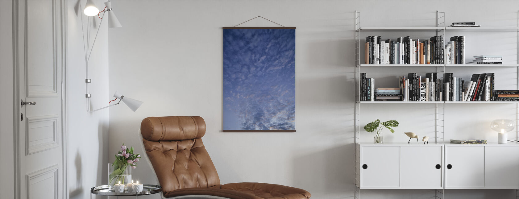 Blue Cloudscape - Poster - Living Room