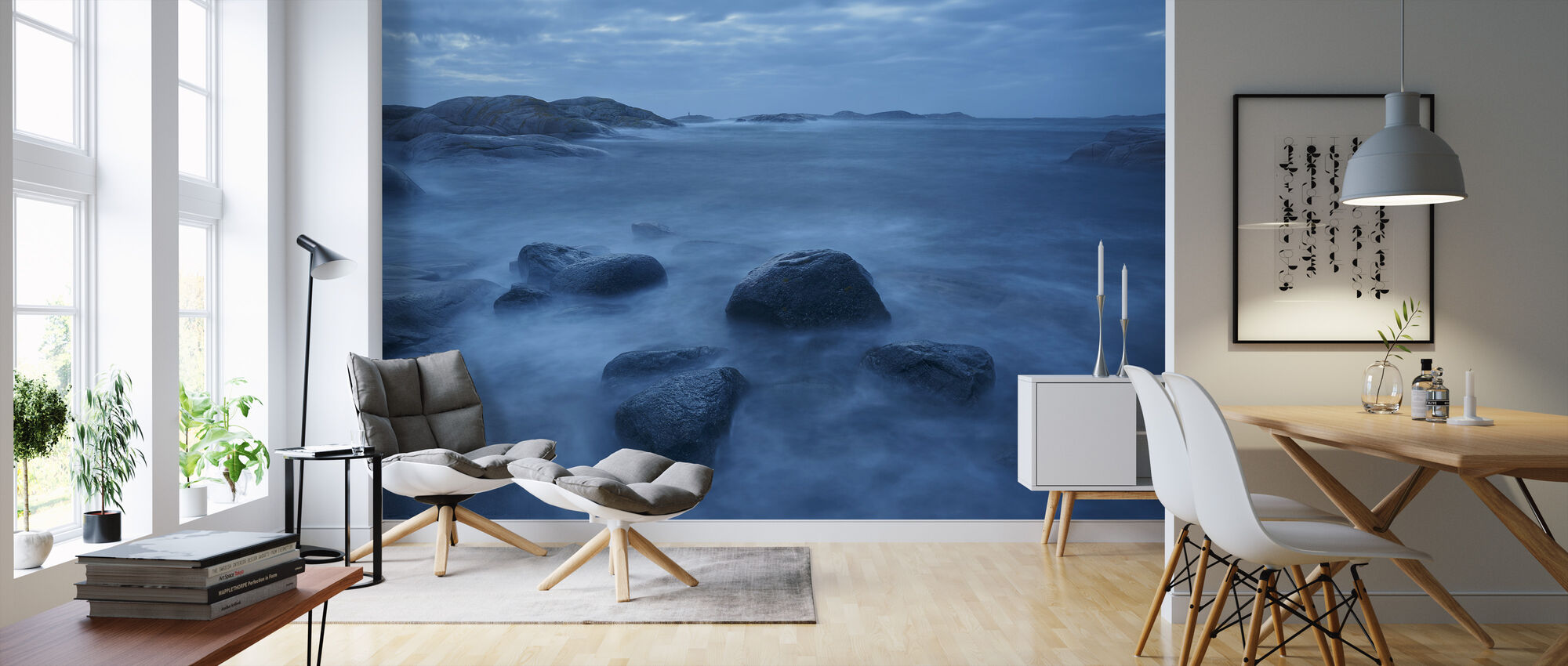 Stormy Clouds over Sea - Wallpaper - Living Room