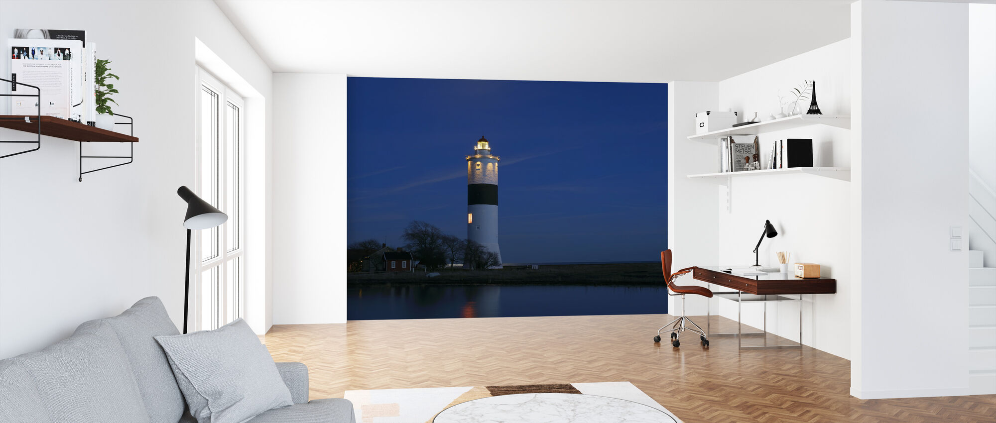 Lighthouse in Öland - Wallpaper - Office