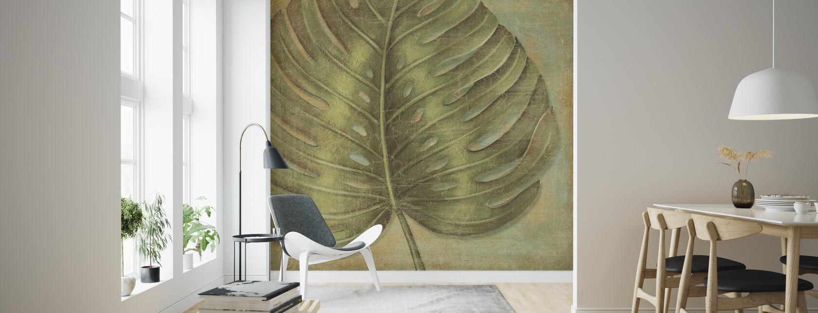 Groene Tropic Monstera - Behang - Woonkamer