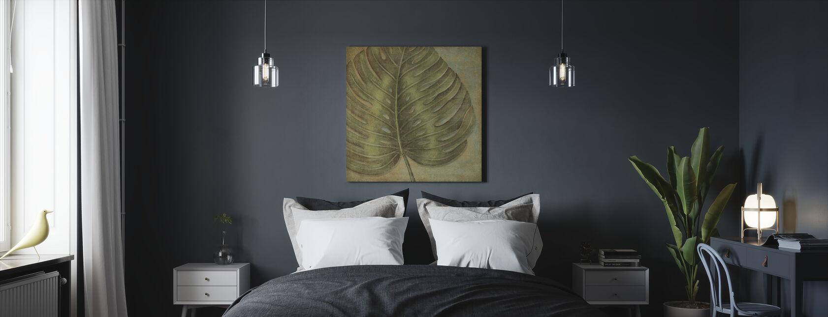 Green Tropic Monstera - Canvas print - Bedroom
