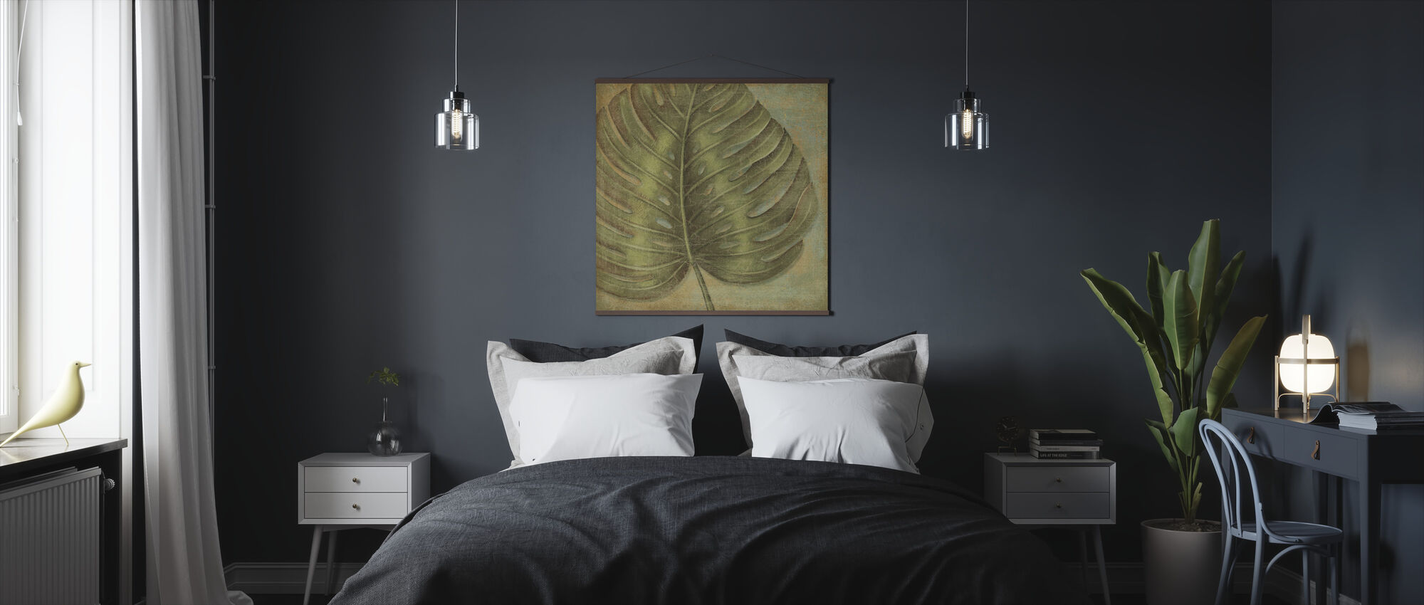 Green Tropic Monstera - Poster - Bedroom