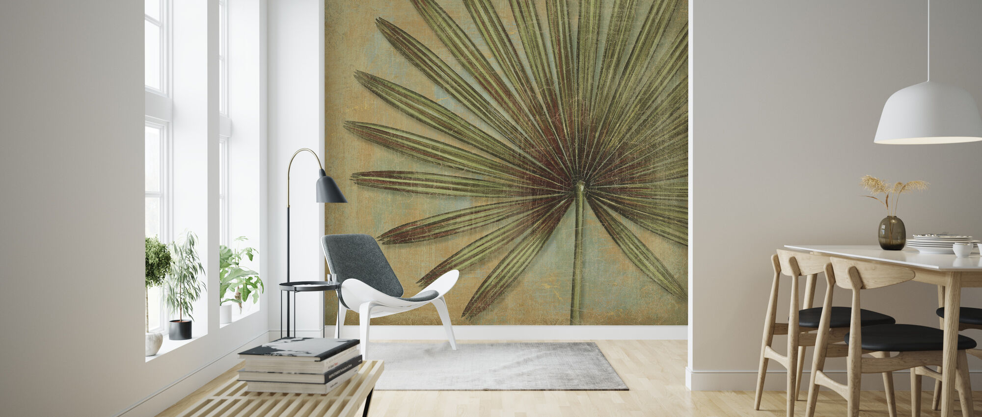 Green Tropic - Wallpaper - Living Room