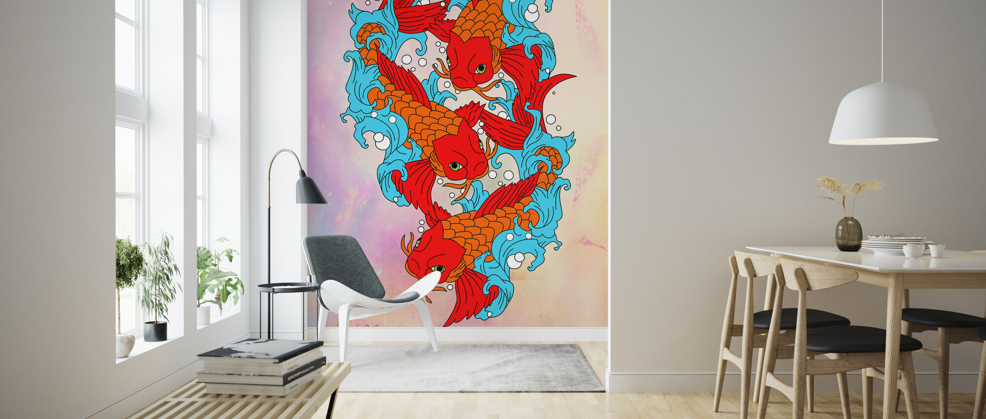 Koi Fish - Wallpaper - Living Room