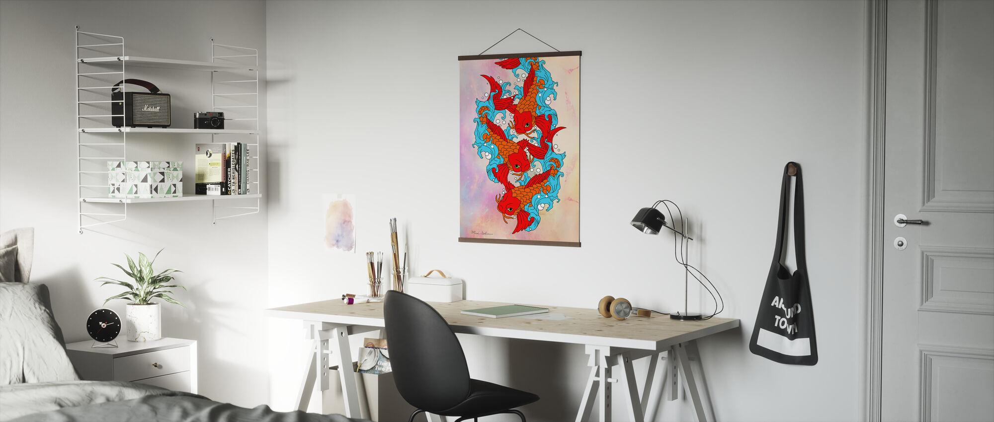 Koi Fish - Poster - Office